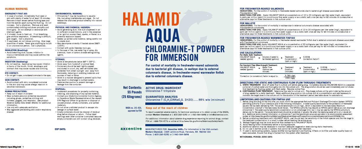 Halamid (Chloramine-t Trihydrate) Powder [Western Chemical Inc.]