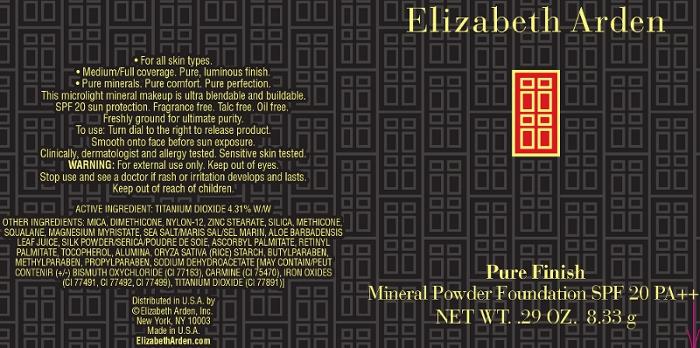 Pure Finish Mineral Powder Foundation Spf 20 Pure Finish 1 (Titanium Dioxide) Powder [Elizabeth Arden, Inc]