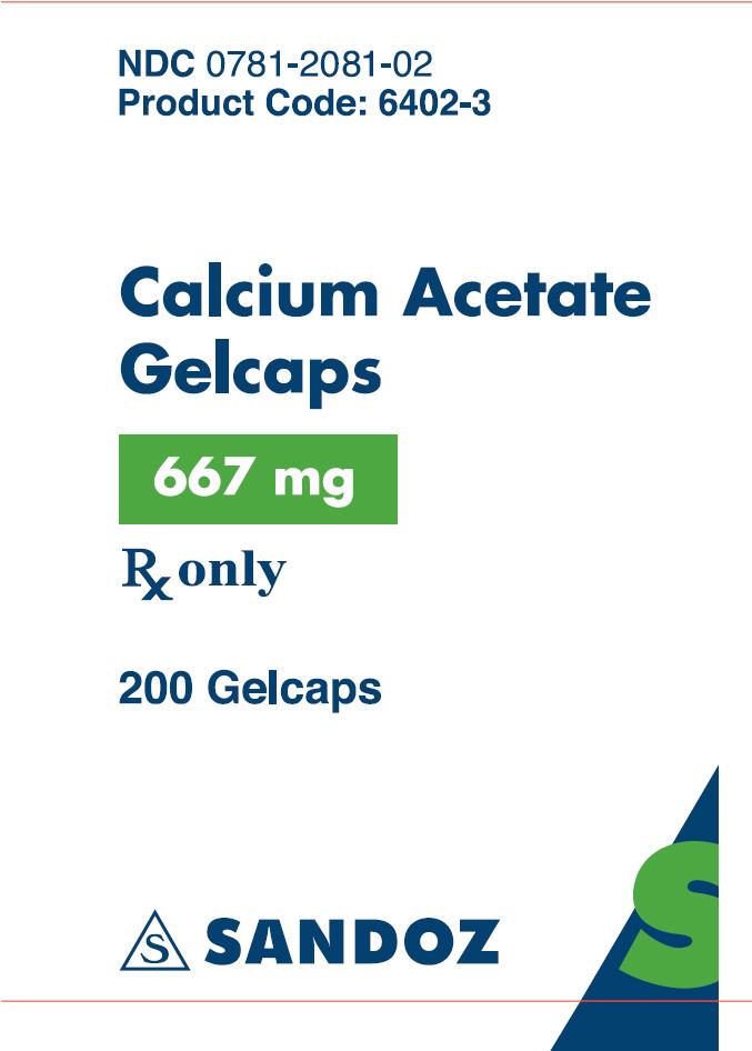 Calcium Acetate - Bottle Label 200 Capsules