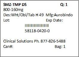 Sulfamethoxazole And Trimethoprim Tablet [Clinical Solutions Wholesale]
