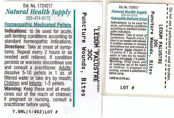 Puncture Wounds Bites (Ledum Palustre Twig) Pellet [Natural Health Supply]