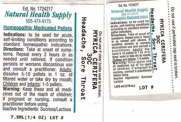 Headache Sore Throat (Morella Cerifera Root Bark) Pellet [Natural Health Supply]