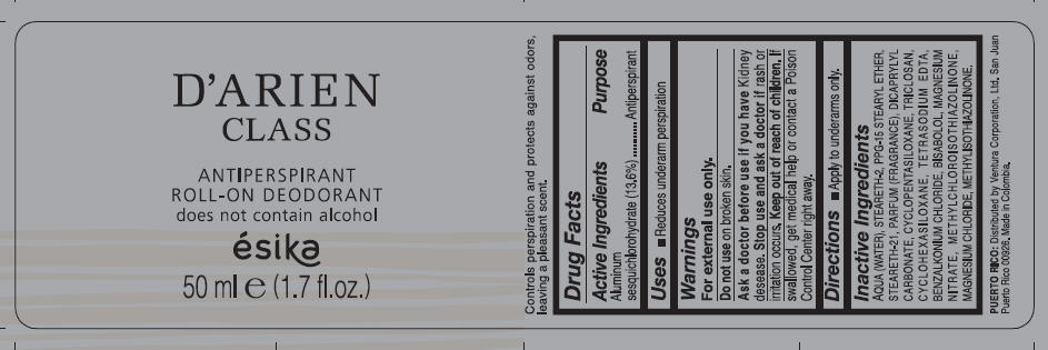 Esika D Arien Class Roll-on (Aluminum Sesquichlorohydrate) Liquid [Ventura Corporation Ltd.]