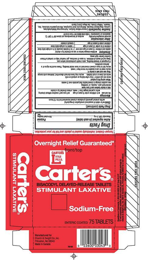 Carters Little Pills Sodium-free (Bisacodyl) Tablet, Delayed Release [Church & Dwight Co., Inc.]
