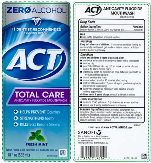 PRINCIPAL DISPLAY PANEL ACT Total Care Anticavity Fluoride Rinse Fresh Mint