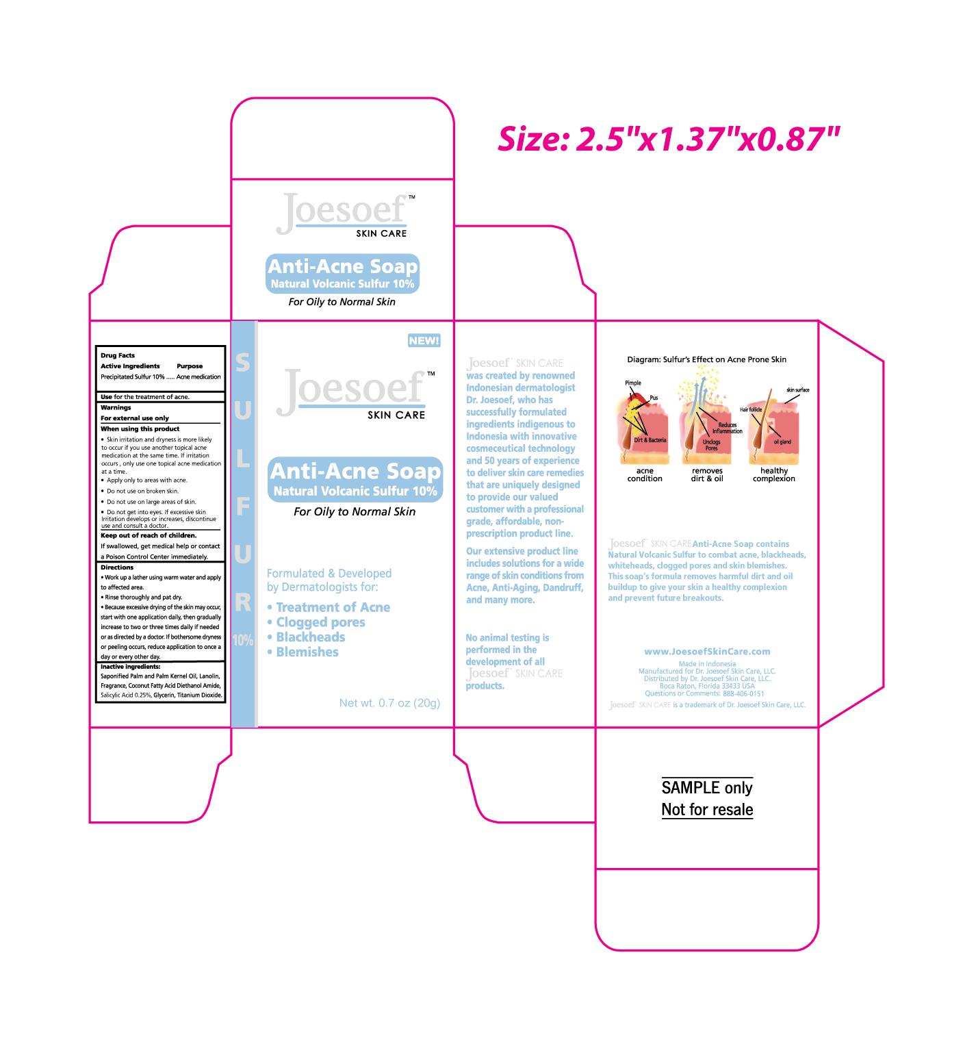 Anti Acne Natural Volcanic Sulfur (Sulfur) Soap [Galenium Pharmasia Laboratories, Pt]