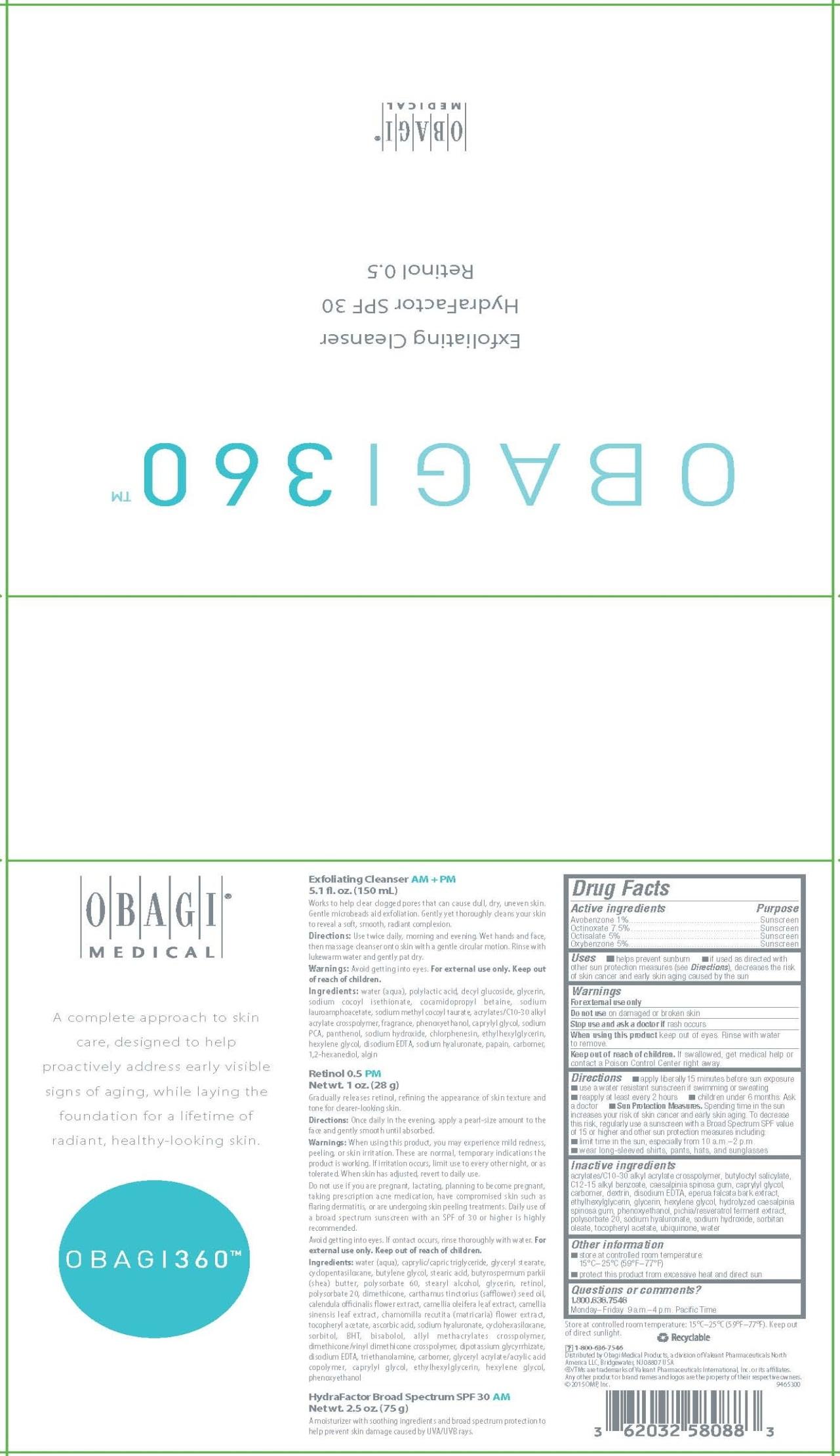 Obagi 360 (Avobenzone, Octinoxate, Octisalate, Oxybenzone) Kit [Omp, Inc.]