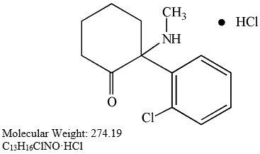 Ketamine Hydrochloride Structural Formula