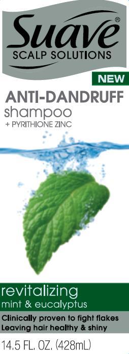 Suave Revitalizing Mint And Eucalyptus Antidandruff (Pyrithione Zinc) Shampoo [Conopco Inc. D/b/a Unilever]