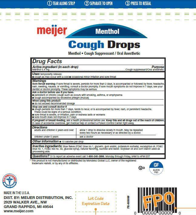Meijer Menthol Cough Drops (Menthol) Lozenge [Meijer Distribution, Inc ]