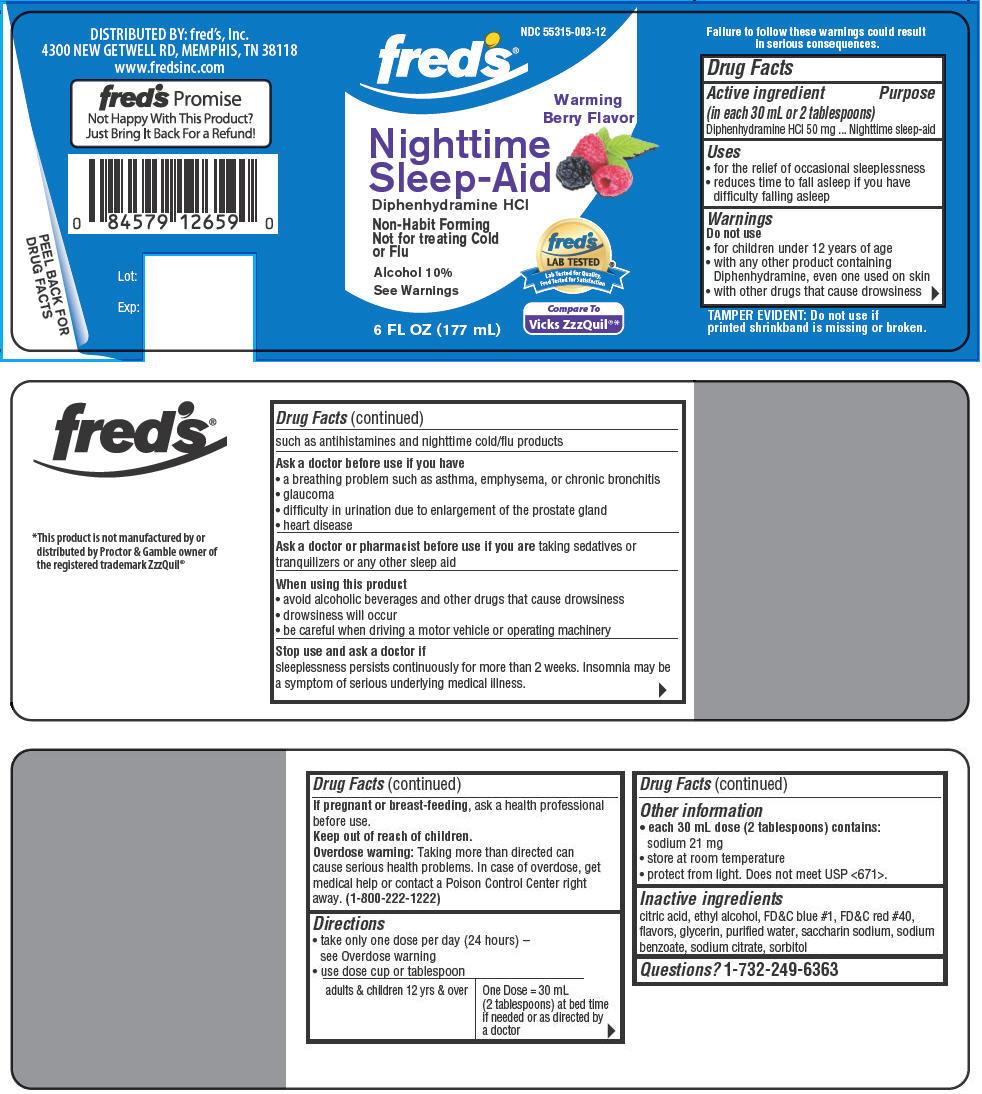 Nighttime Sleep Aid (Diphenhydramine Hydrochloride) Liquid [Fred's, Inc.]