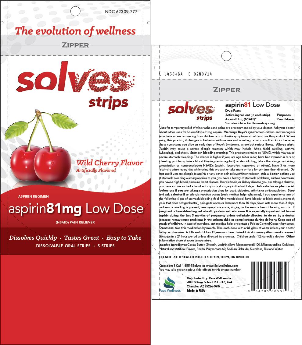 Solves – Aspirin Cherry (Aspirin) Strip [Pace Wellness Inc.]