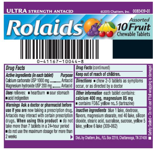 Rolaids Ultra Strength Fruit (Calcium Carbonate And Magnesium Hydroxide) Tablet, Chewable [Chattem, Inc.]