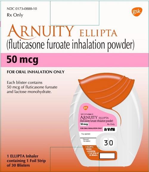 Arnuity Ellipta (Fluticasone Furoate) Powder [Glaxosmithkline Llc]