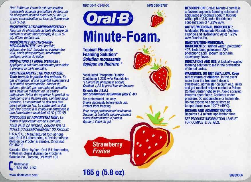 Oral-b Minute-foam Strawberry (Acidulated Phosphate Fluoride) Aerosol [Oral-b Laboratories]
