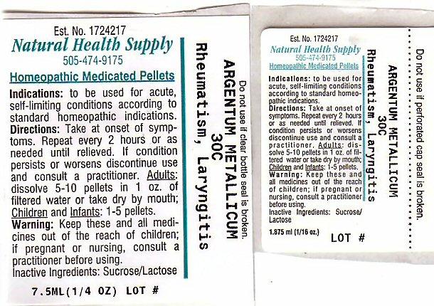 Rheumatism Laryngitis (Silver) Pellet [Natural Health Supply]