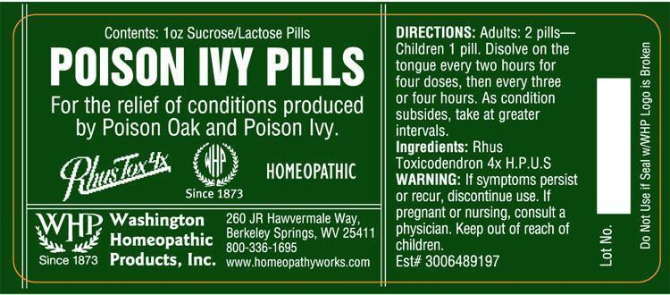 Poison Ivy Pills (Toxicodendron Pubescens Leaf) Pellet [Washington Homeopathic Products]