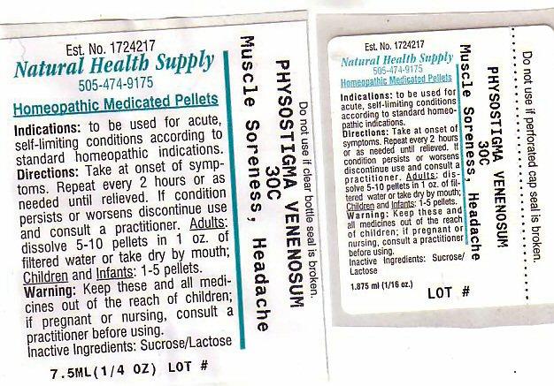 Muscle Soreness Headache (Physostigma Venenosum Seed) Pellet [Natural Health Supply]