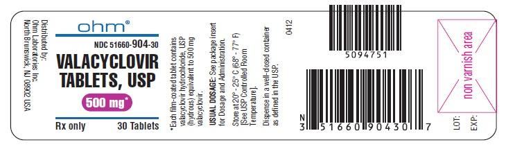 Valacyclovir (Valacyclovir Hydrochloride) Tablet [Ohm Laboratories Inc.]