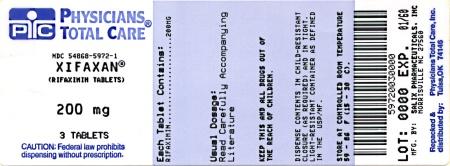 XIFAXAN 200 mg Tablets Label