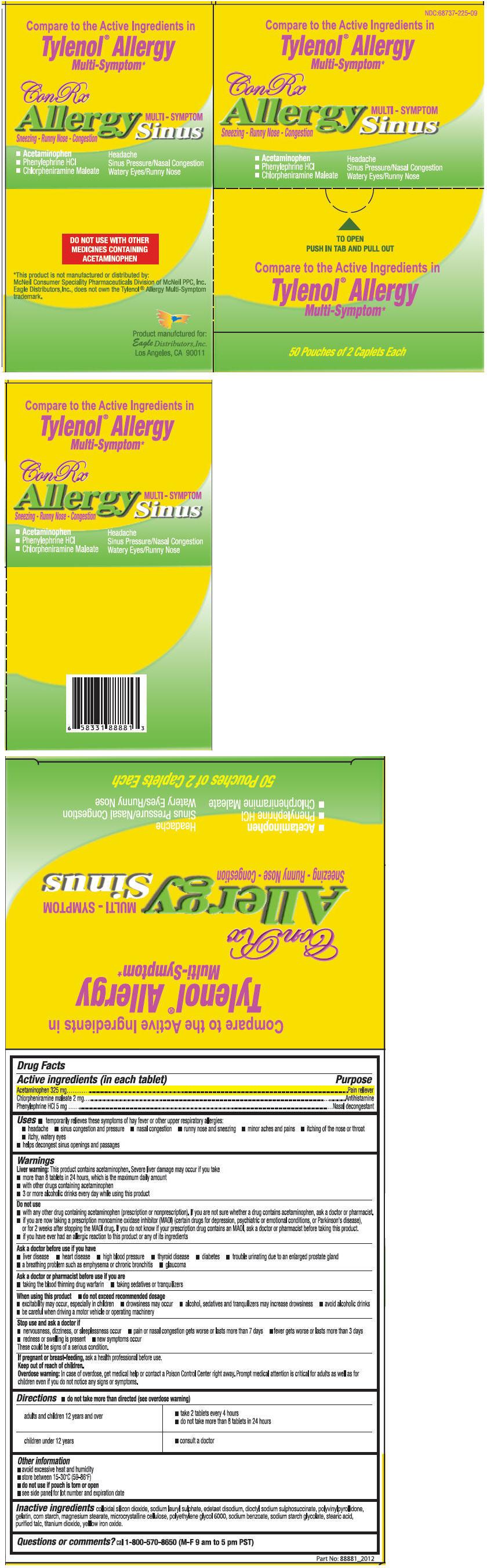 Conrx Allergy Sinus Multi-symptoms (Acetaminophen, Chlorpheniramine Maleate, And Phenylephrine Hydrochloride) Tablet [Eagle Distributors,inc.]
