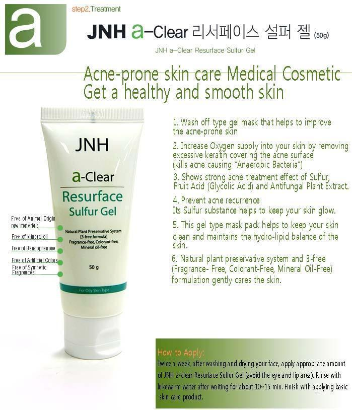 Jnh A-clear Resurface Sulfur (Glycerin) Gel [Daeduck Lab Co., Ltd.]