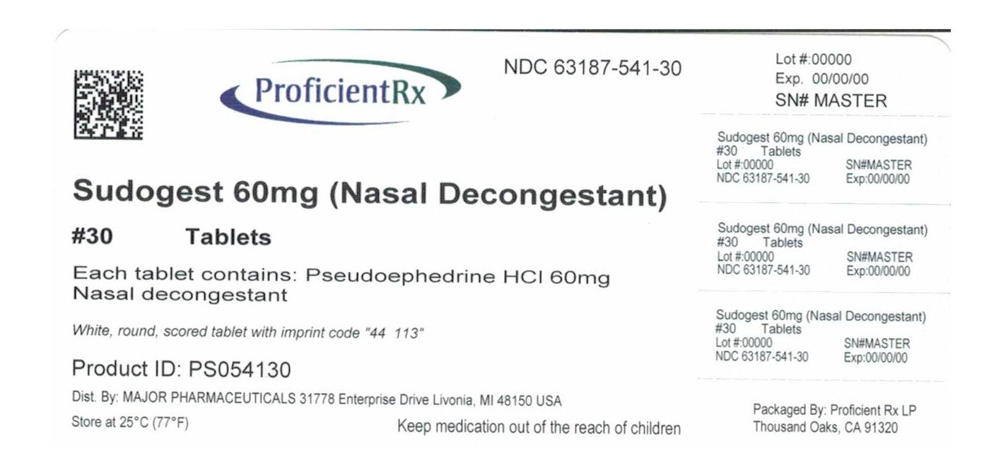Sudogest (Pseudoephedrine Hydrochloride) Tablet, Film Coated [Proficient Rx Lp]