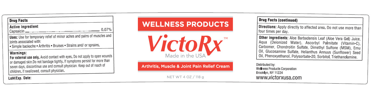 Wellness Products Victorx (Capsaicin) Cream [Wellness Products ]