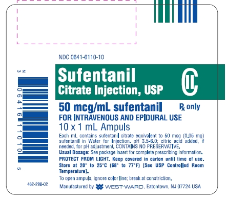 Sufentanil Citrate Injection [West-ward Pharmaceutical Corp.]
