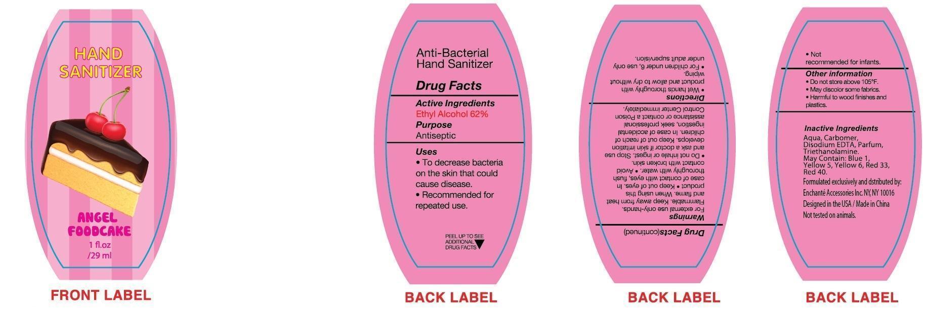 Angel Foodcake Hand Sanitizer (Alcohol) Liquid [Enchante Accessories Inc. ]