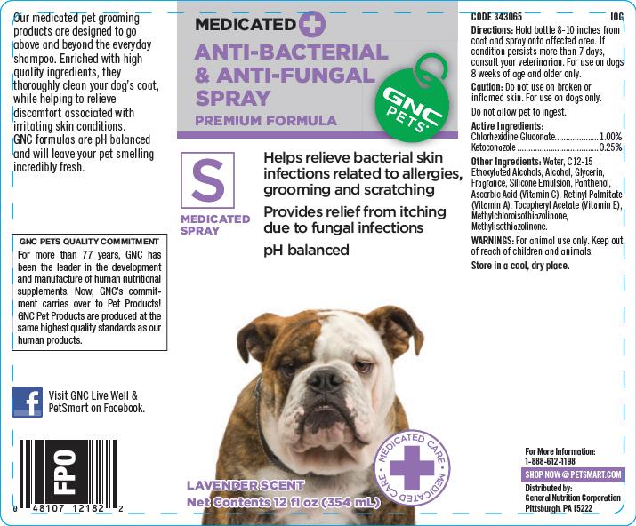 Gnc Pets Anti-bacterial And Anti-fungal (Premium Formula) (Chlorhexidine Gluconate And Ketoconazole) Spray [General Nutrition Corporation]