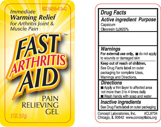 Fast Arthritis Aid Pain Relieving (Capsaicin) Gel [Concept Laboratories, Inc.]