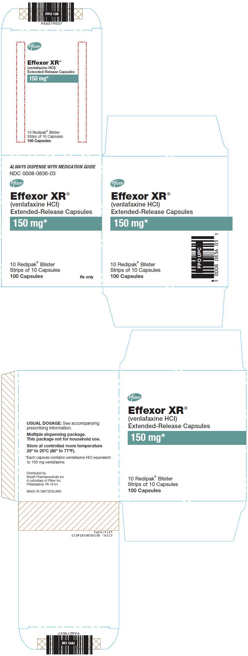 Principal Display Panel - 150 mg Capsule Blister Pack Carton