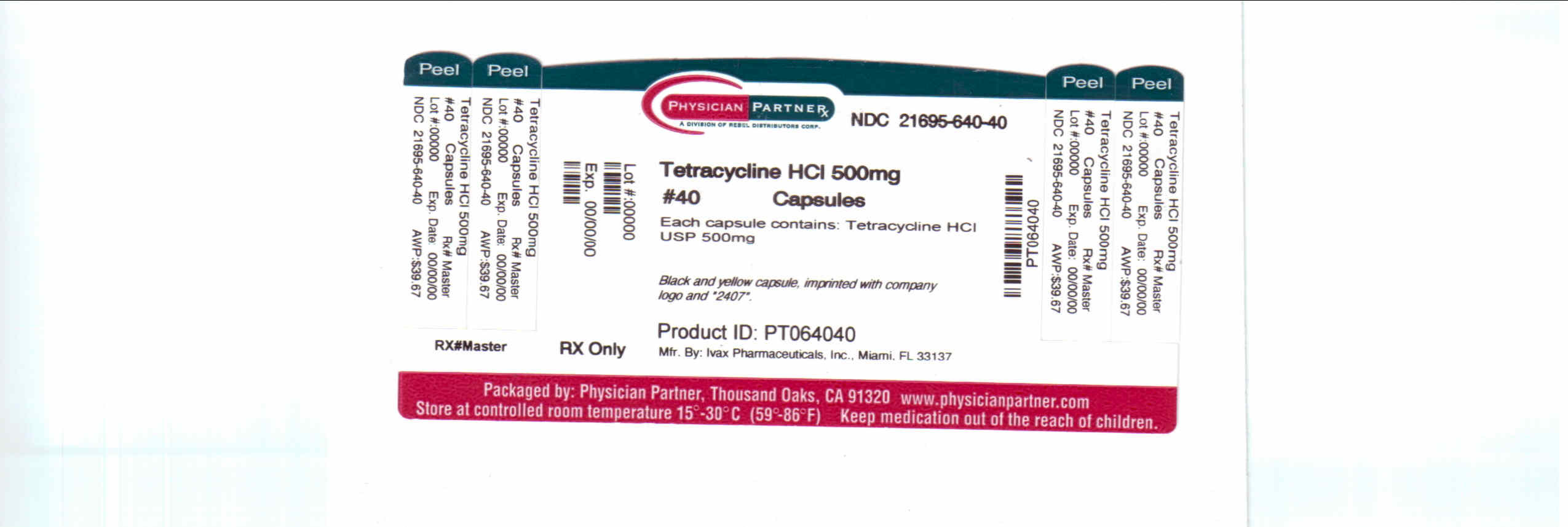 Tetracycline HCl 500mg