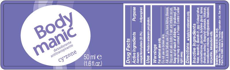 Cyzone Body Manic (Aluminum Sesquichlorohydrate) Lotion [Ventura Corporation Ltd]