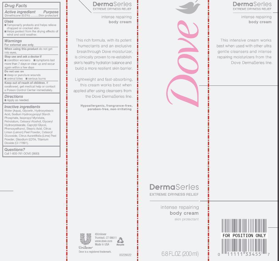 Dove Dermaseries Intense Repairing Body Cream (Dimethicone) Cream [Conopco Inc. D/b/a Unilever]