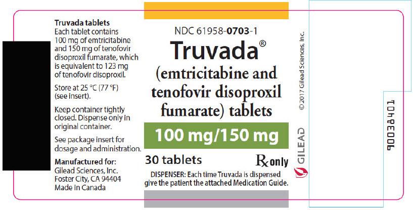Truvada (Emtricitabine And Tenofovir Disoproxil Fumarate) Tablet, Film Coated [Gilead Sciences, Inc]