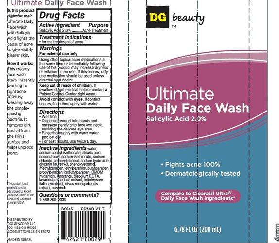 Ultimate Daily Face Wash (Salicylic Acid) Cream [Dolgencorp Inc.]