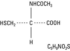structural formula acetylcysteine