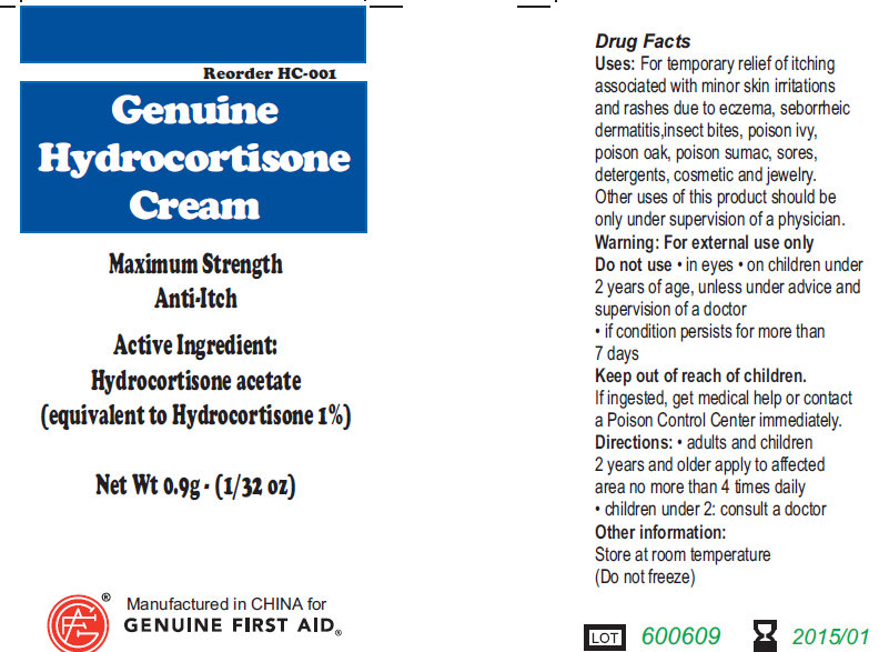 Hydrocortisone (Hydrocortisone Acetate) Cream [Genuine First Aid]