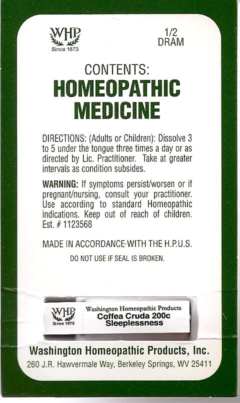 Coffea Cruda Kit Refill (Arabica Coffee Bean) Pellet [Washington Homeopathic Products]