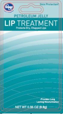Kroger Petroleum Jelly Lip Treatment - Front of Card