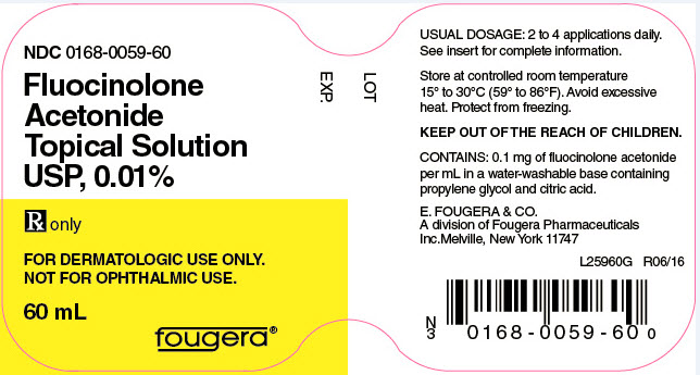 Fluocinolone Acetonide Solution [E. Fougera & Co., A Division Of Fougera Pharmaceuticals Inc.]