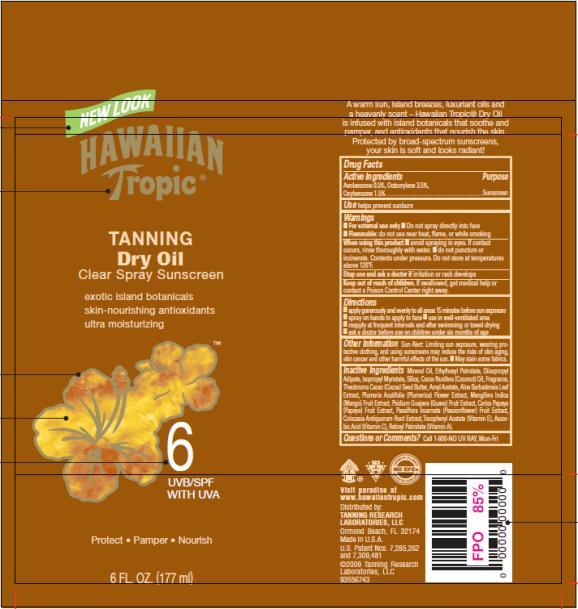 PRINCIPAL DISPLAY PANEL Hawaiian Tropic Tanning Dry Oil SPF 6