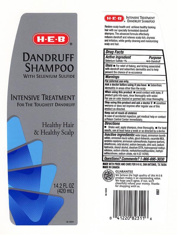 Heb Dandruff (Selenium Sulfide) Shampoo [H E B]