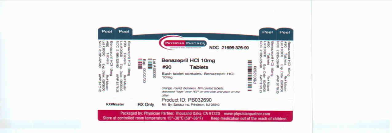 Benazepril HCl 10mg