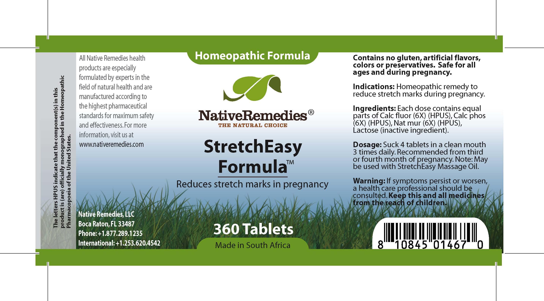Stretcheasy Formula (Calc Fluor , Calc Phos, Nat Mur ) Tablet [Feelgood Health]