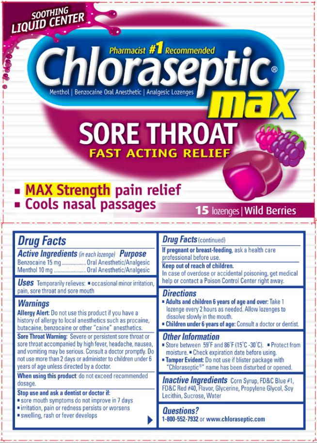 Chloraseptic Sore Throat Max Liquid Center (Menthol And Benzocaine) Lozenge [Prestige Brands Holdings, Inc.]