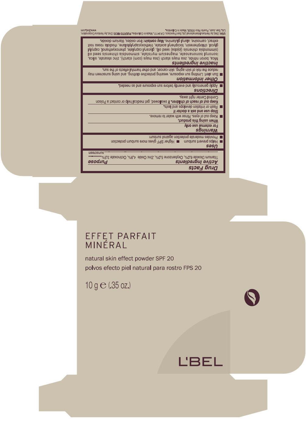 Lbel (Titanium Dioxide, Oxybenzone, Zinc Oxide, And Octinoxate) Powder [Ventura International, Limited]