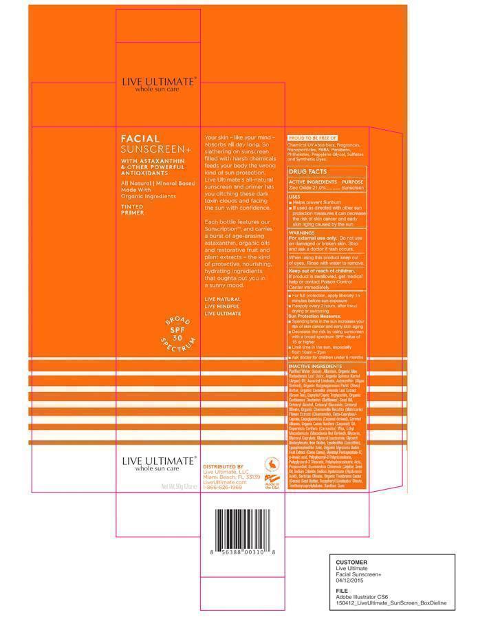 Live Ultimate Facial Sunscreen Spf30 Spf 30 (Zinc Oxide) Cream [Owen Biosciences, Inc.]